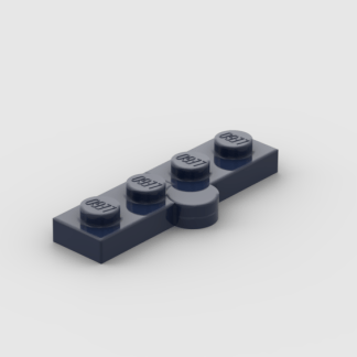 LEGO Part Dark Blue Hinge Plate 1 x 4 Swivel Base with Same Color Hinge Plate 1 x 4 Swivel Top