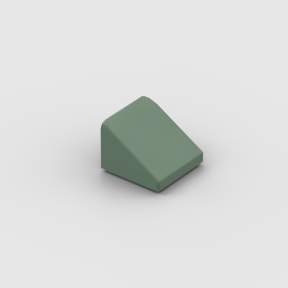 LEGO Part Sand Green Slope 30 1 x 1 x 2:3 Green Cheese Slope