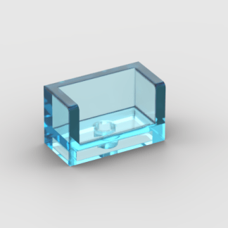 LEGO Part Trans-Light Blue Panel 1 x 2 x 1 with Rounded Corners and 2 Sides