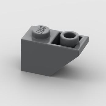 LEGO Part Dark Bluish Gray Slope, Inverted 45 2 x 1