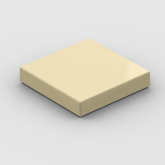 LEGO Part Tan Tile 2 x 2 with Groove