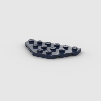 LEGO Part Dark Blue Wedge, Plate 3 x 6 Cut Corners