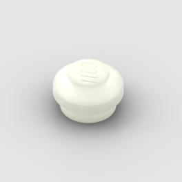 LEGO Part Glow In Dark White Plate, Round 1 x 1