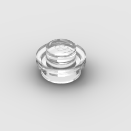LEGO Part Trans Clear Plate, Round 1 x 1