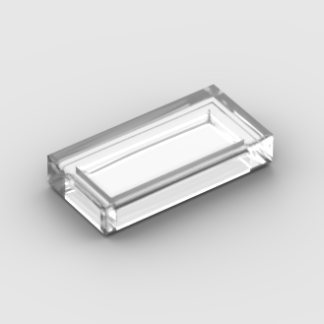 LEGO Part Trans Clear Tile 1 x 2 with Groove
