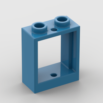 LEGO Part - Dark Azure Window 1 x 2 x 2 Flat Front