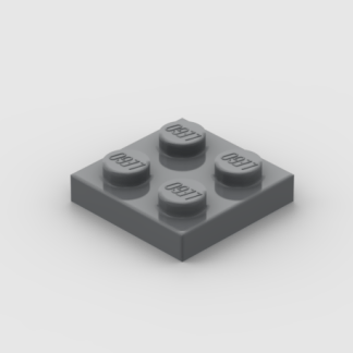 LEGO Part Dark Bluish Grey Plate 2 x 2