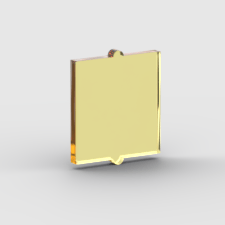 LEGO Part Trans Yellow Glass for Window 1 x 2 x 2 Flat Front
