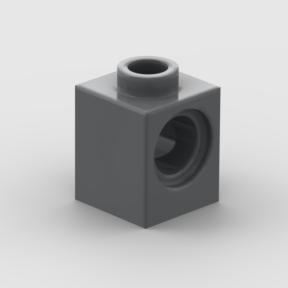 LEGO Part Dark Bluish Gray Technic, Brick 1 x 1 with Hole