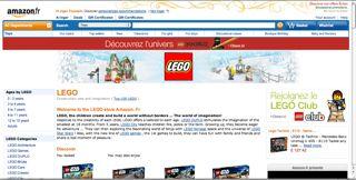 Amazon France Lego Store
