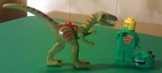 Lego Coelophysis vs Minifigure