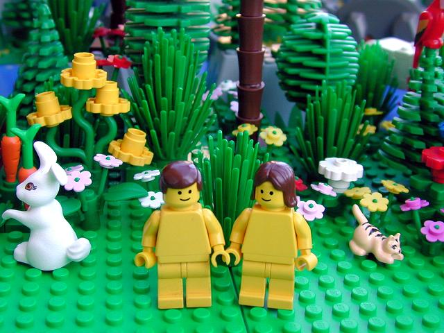 Adam and Eve in lego