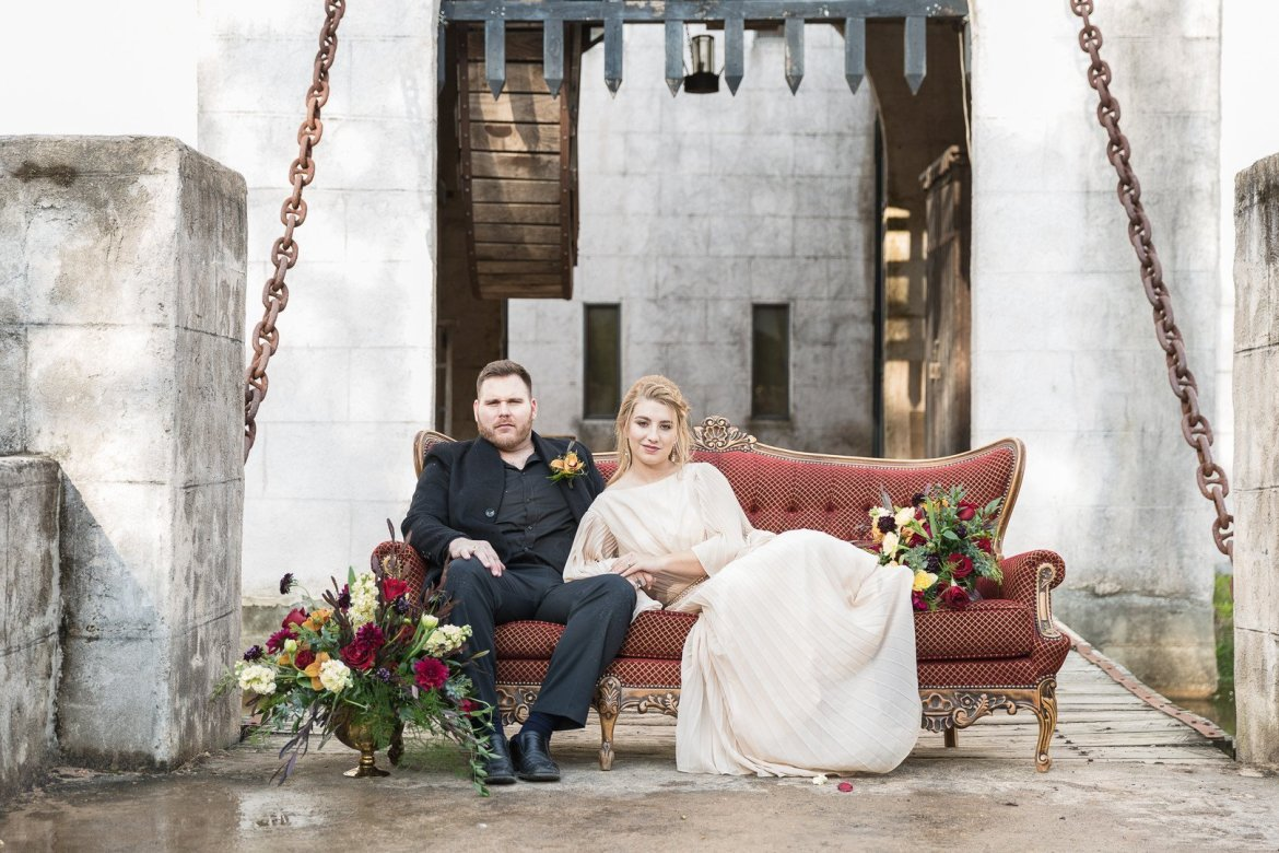 Game of Thrones inspried wedding editorial in Texas