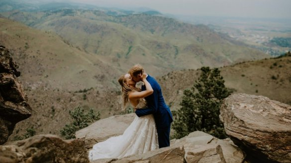 Stacey and Ryan's Intimate Vintage Mountain Wedding