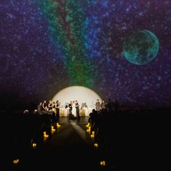 Ceremony at Adler Planetarium. Photo by Maypole Studios