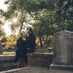 Engagement session at Oakland Cementry