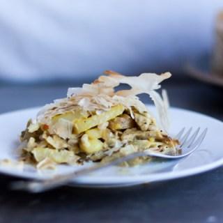 Artichoke and Saffron Pie