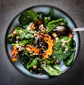 Roasted Squash, Kale, and Prune Salad