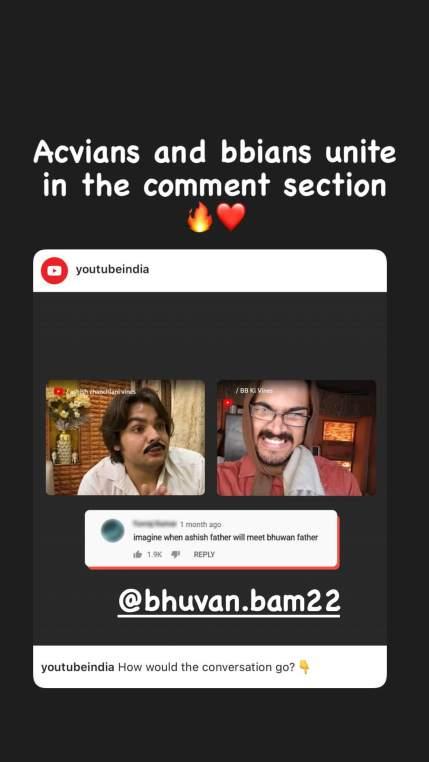 Ashish Chanchlani Instagram story