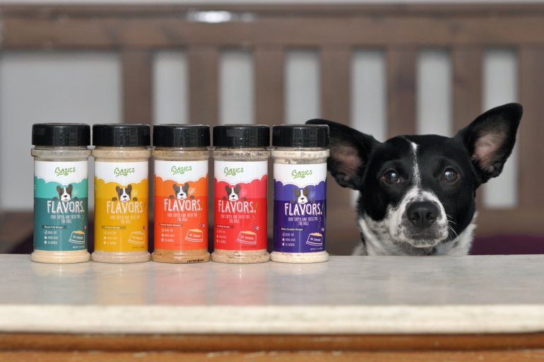 Is your dog a picky eater? Does he or she need an appetite boost? FLAVORS, human grade dog food toppers by Basics Brands, are here to help!