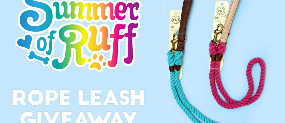 Summer of Ruff Giveaway #3: Rope Leashes