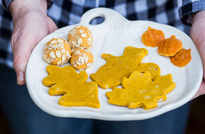 Fall is coming — and that means pumpkins flavored everything. Your dogs don't have to miss out! Check out seven of my favorite pumpkin dog treat recipes from my fellow dog bloggers.
