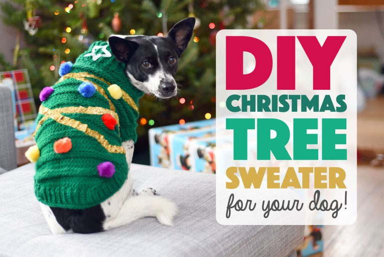 'Tis the season to dress yourpup in his or her holiday best! This DIY Christmas tree sweater for your dog is easier than it looks and will certainly amp up the festive factor at any seasonal gathering.