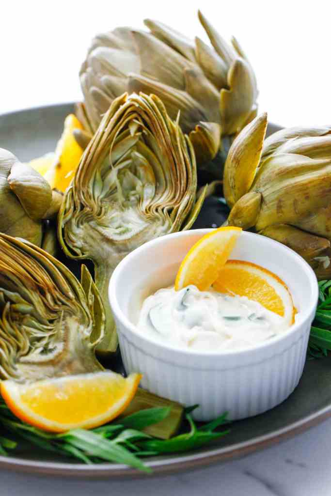 Artichoke with Herbed Mayonnaise
