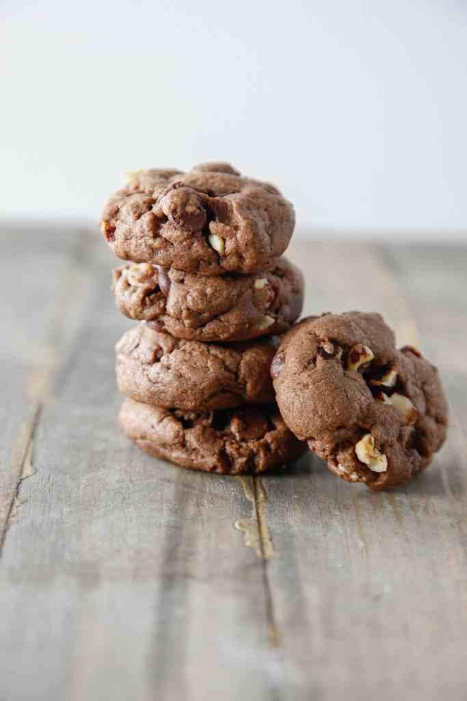 Double Chocolate Hazelnut Cookies