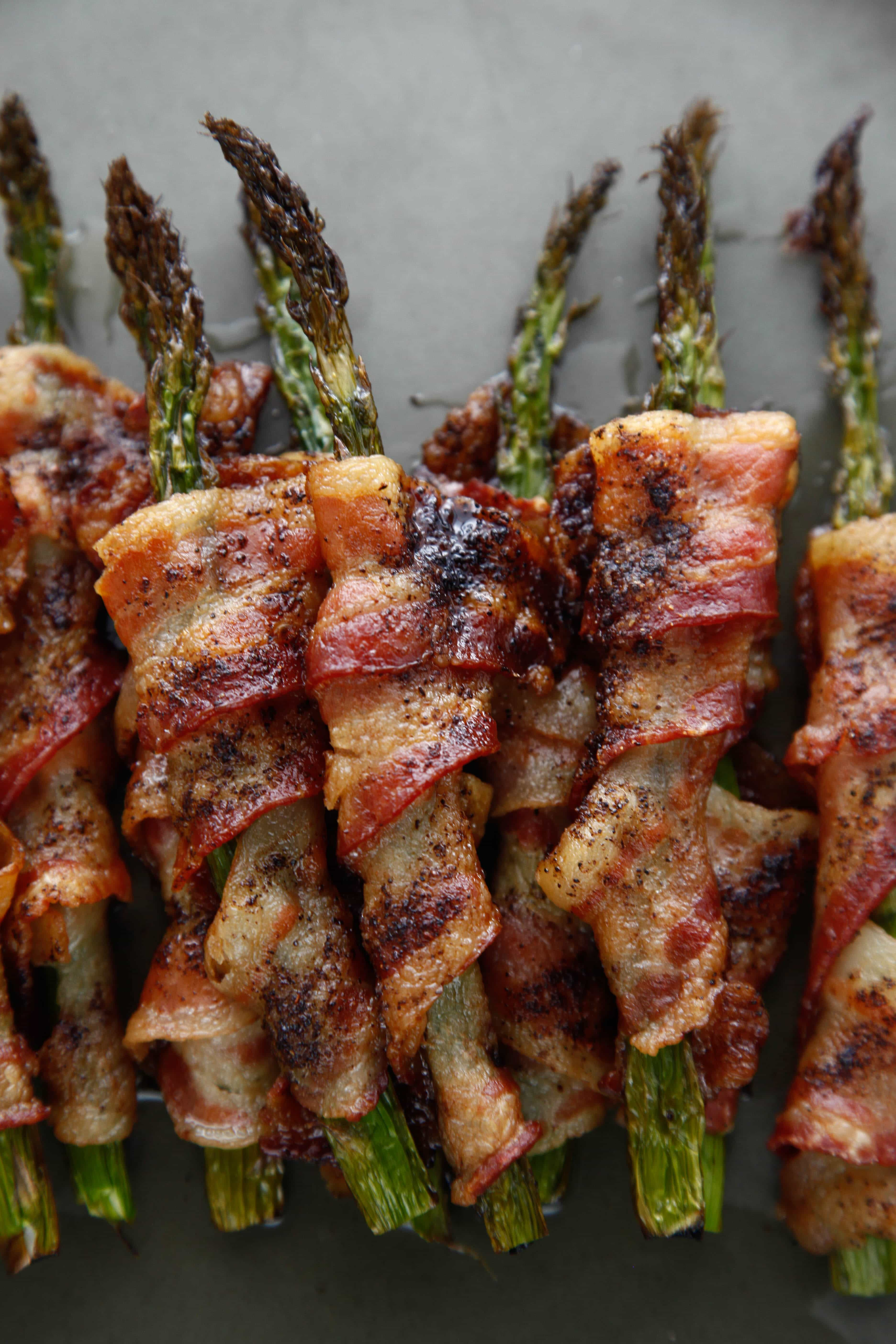 Bacon wrapped spicy and sweet asparagus the brooklyn cook i made this in my oven for an easier clean up i hate cooking bacon on the stovetop because the grease gets everywhere but in the oven it tends to burn off ccuart Image collections