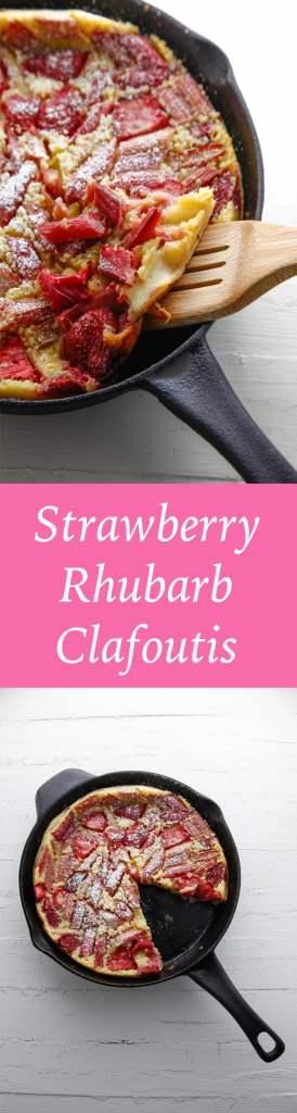 Strawberry Rhubarb Clafoutis