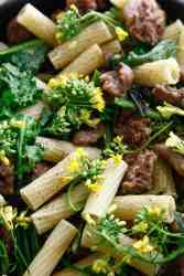 One Pan Broccoli Rabe with Sausage Penne