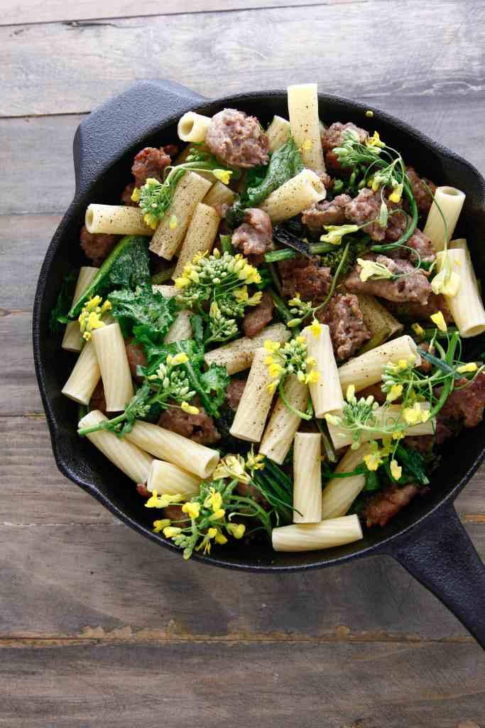 sausage with broccoli rabe_-5