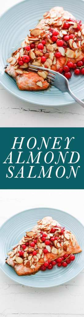 honey almond salmon