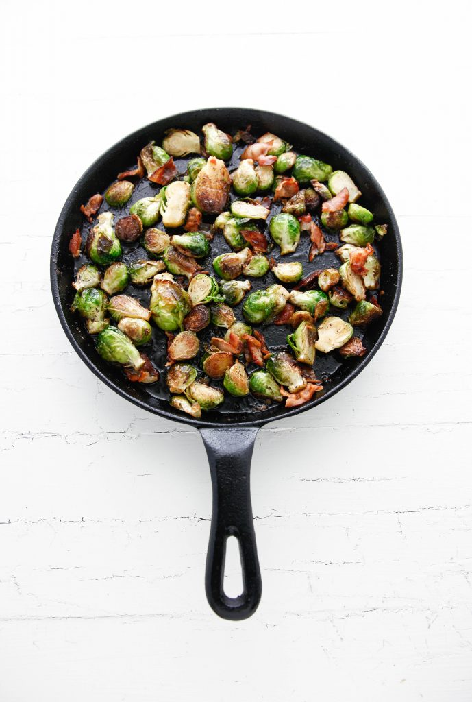 Pan Roasted Bacon Brussels Sprouts with Maple Vinaigrette _-3
