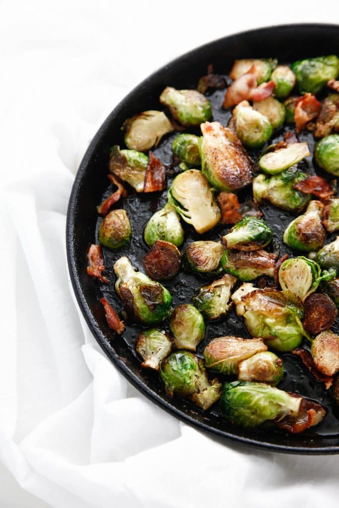 Pan Roasted Bacon Brussels Sprouts with Maple Vinaigrette _-6