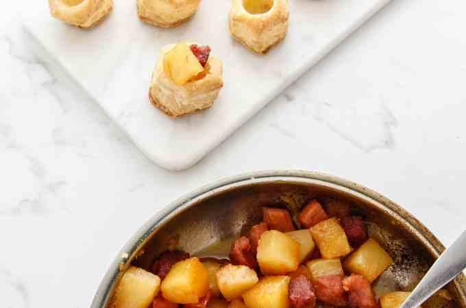 Leftover Ham and Pineapple Bites