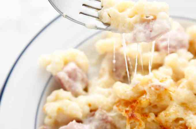 Leftover Ham Mac and Cheese