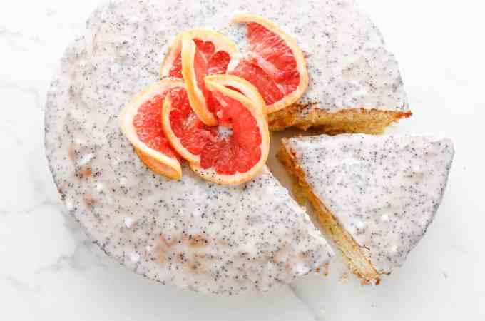 Grapefruit Poppyseed Cake
