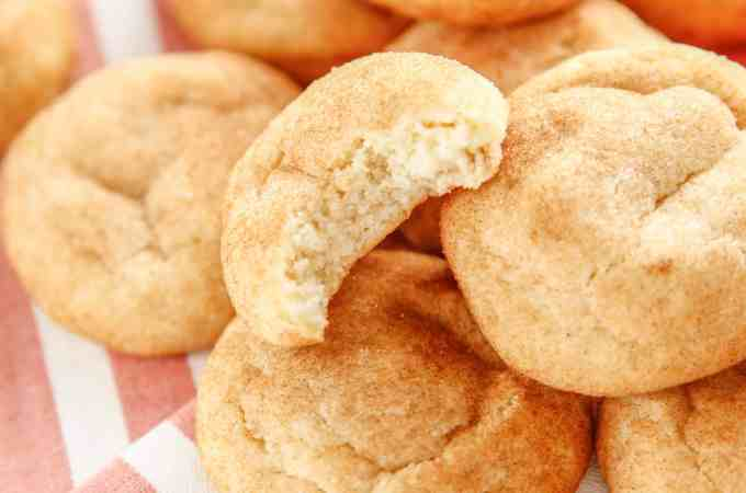 Pillowy Soft Snickerdoodle Cookies