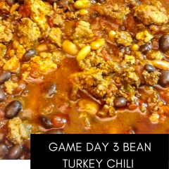 Game Day 3 Beam Turkey Chili