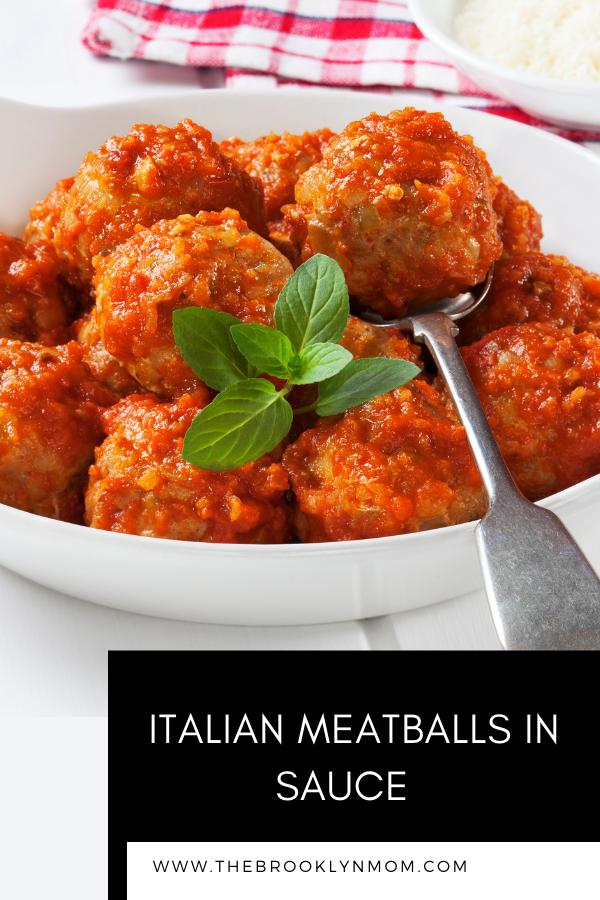 Authentic Italian Meatballs in Sauec