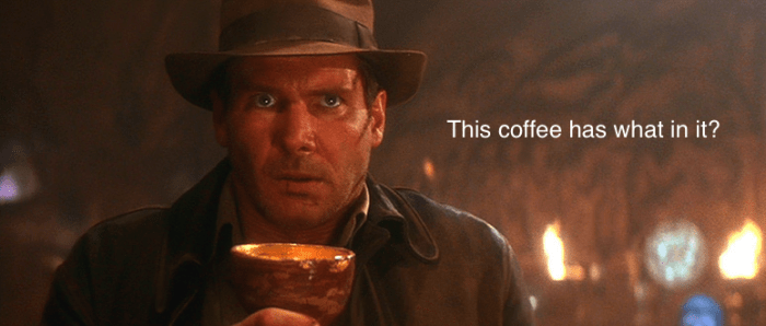 indiana jones coffee