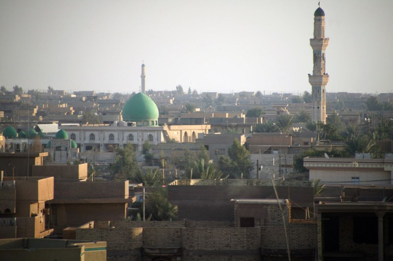Fallujah, central Iraq. Hard-won by the Allied forces in 2004, now the focal point of a counter-offensive against Islamic State.
