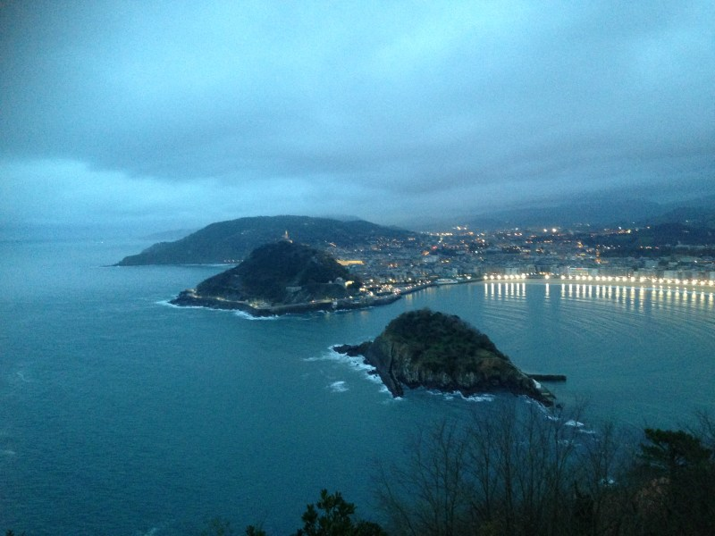 'Don't let yourself be scared.' View from top of a cable car climb in San Sebastián, Basque Country.