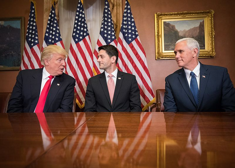 Unthinkable a few months ago - Donald Trump, Paul Ryan and Mike Pence are the new kingmakers in U.S. politics