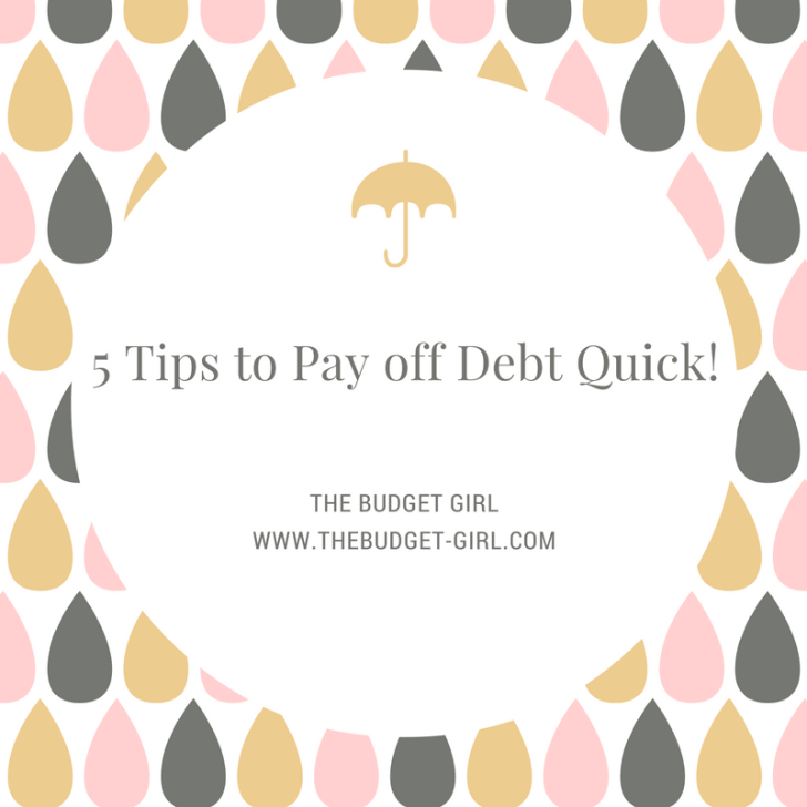 5 Tips to Pay Off Debt Quick!