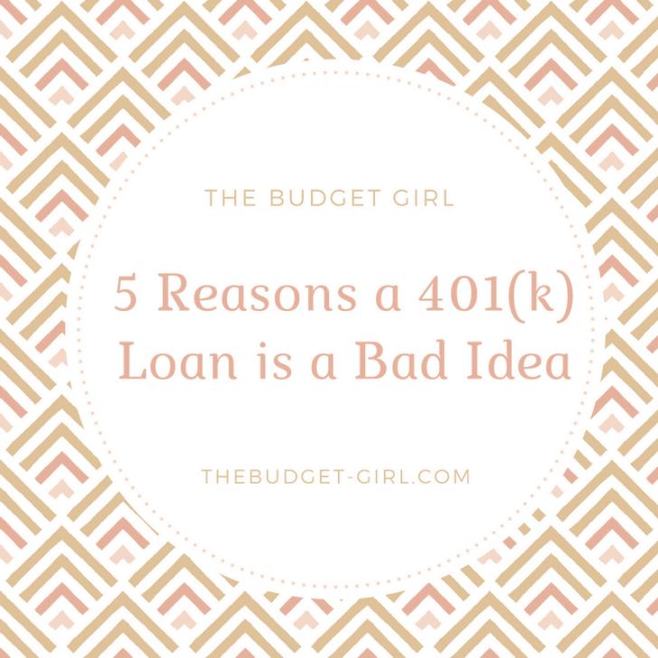 reasons a 401k loan is a bad idea