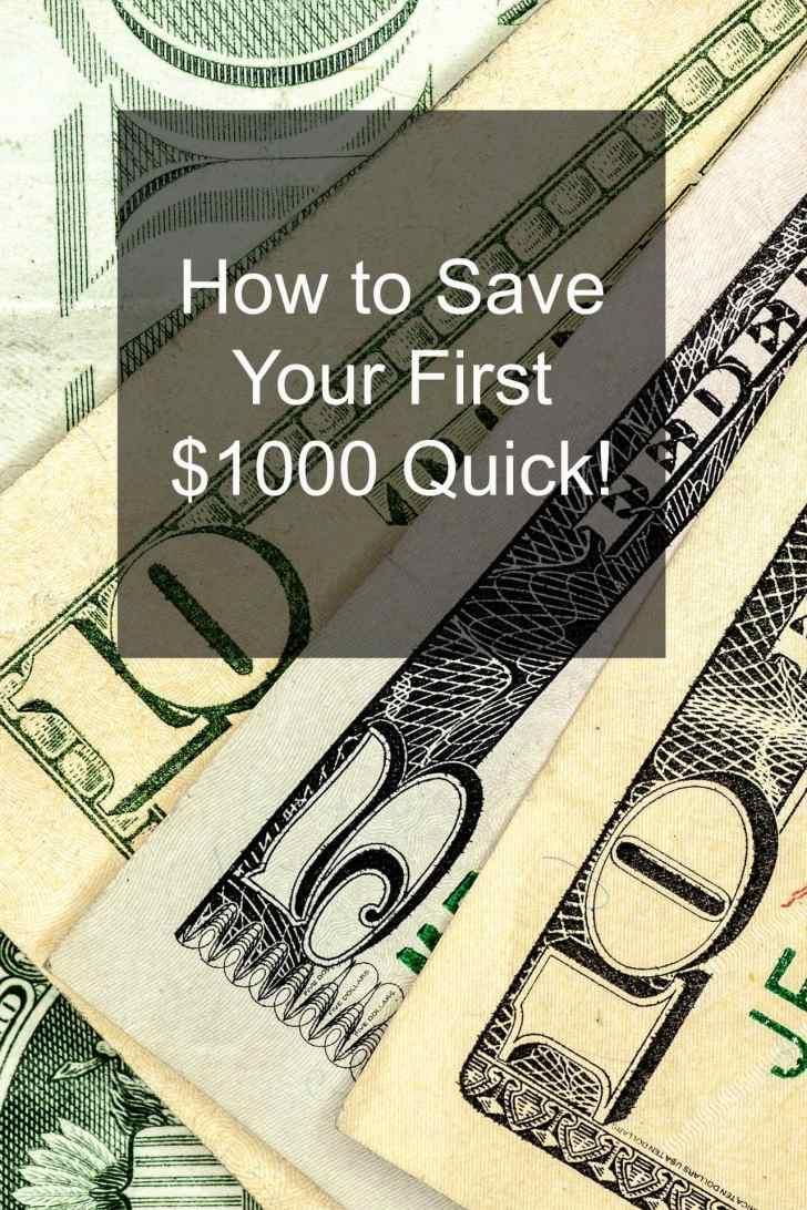 save money quick