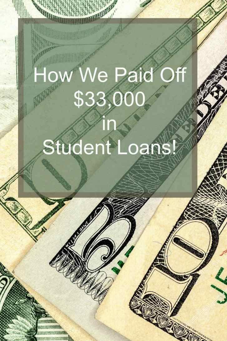 paid off student loans